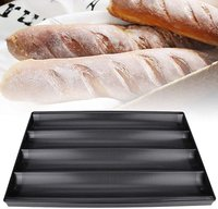 Baking Tray Baguette French Bread 4 Line Non Stick 60 x 40 x 3 cm for Commercial Baking