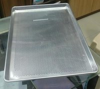 Baking Tray Perforated 60 x 40 x 2 cm Straight Wall for Commercial Baking