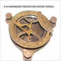 Maritime Vintage Brass Sundial Compass