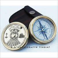 Ealing London Polished Brass Compass