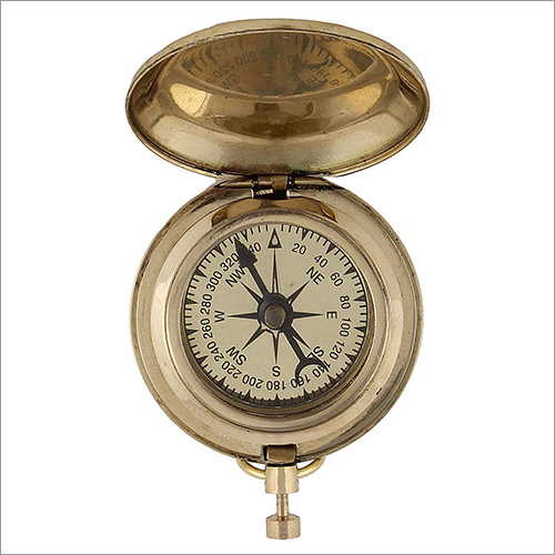 Nautical Antique Beautiful Push Button 2 Inch Magnetic Compass