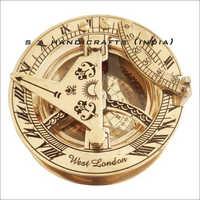 Antique Brass Golden Sundial Compass