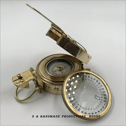nautical brass compass, antique brass compass