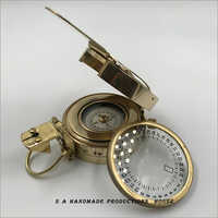 Vintage Old Style Military Compass Nautical Pocket Shiny Brass Navigational Compass Collectibbe Gift Item