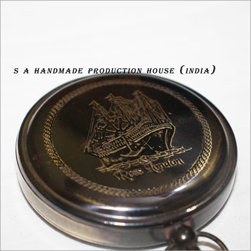 Collectibles Nautical Brass Round Push Button Pocket Compass Gift Item