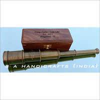 Antique Copper/Leather Spyglass 18