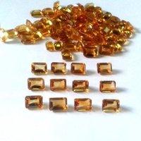 6x8mm Citrine Faceted Octagon Loose Gemstones