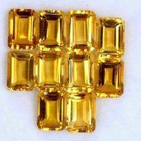 10x14mm Citrine Faceted Octagon Loose Gemstones