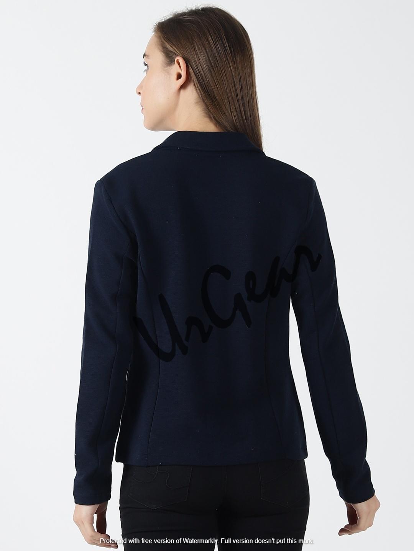Women Solid Navy Jacket