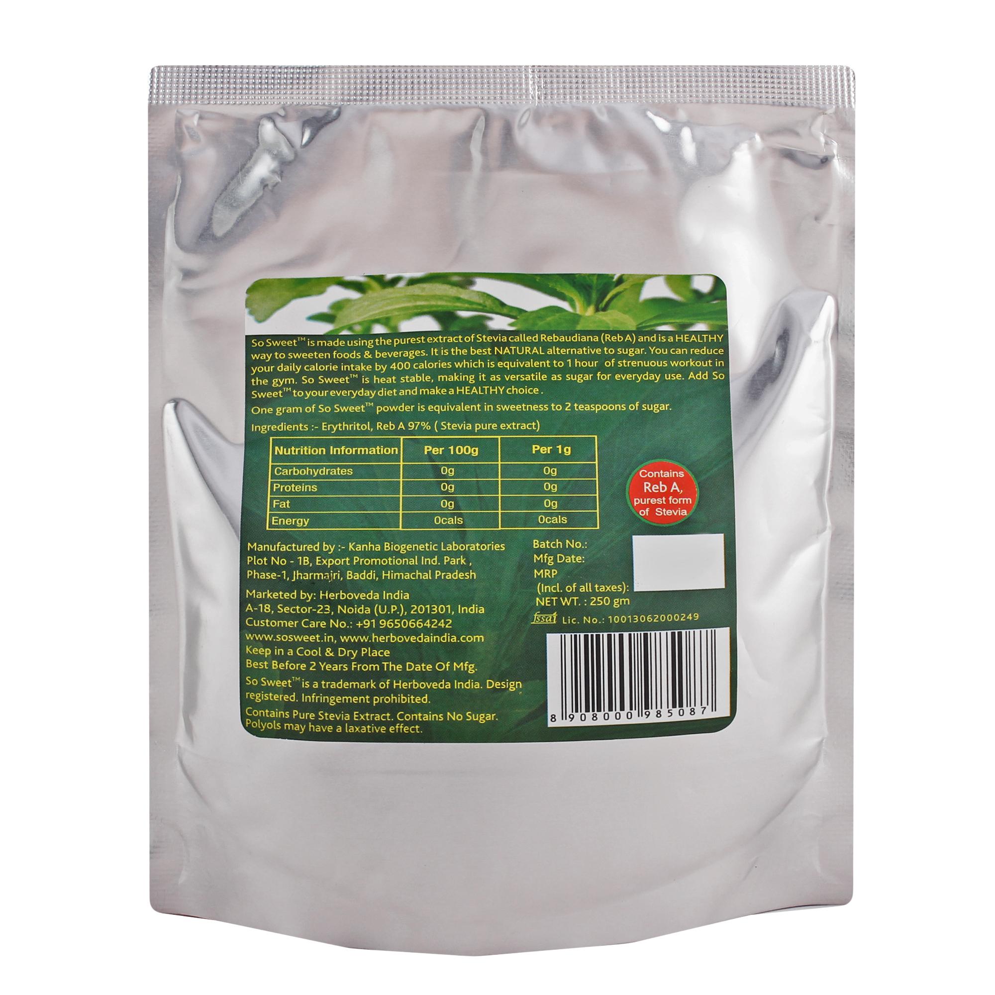 Natural Zero Calorie Sweetener
