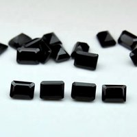 6x8mm Black Onyx Faceted Octagon Loose Gemstones
