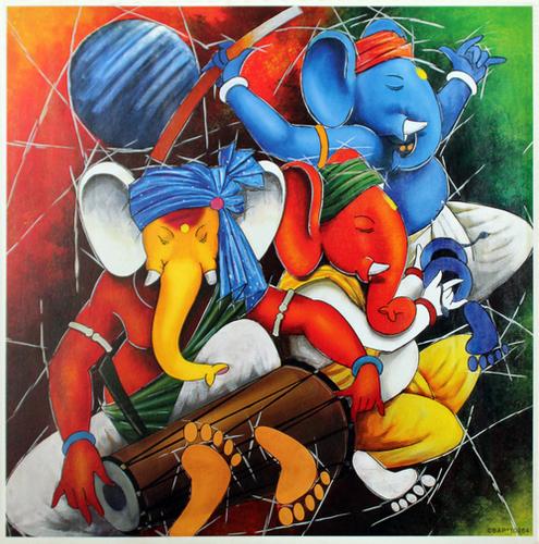 Ganesha Poster Paintings