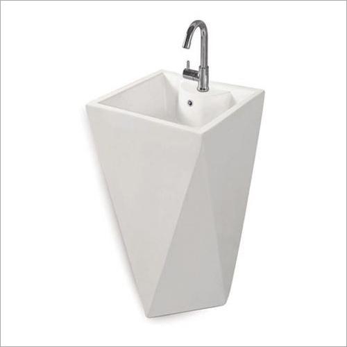 White One Piece Wash Basin