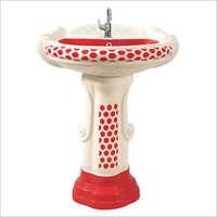 Big Sterling Vitrosa Pedestal Wash Basin