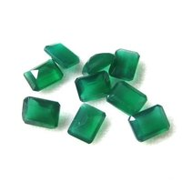 7x9mm Green Onyx Faceted Octagon Loose Gemstones