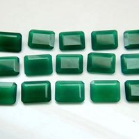 8x10mm Green Onyx Faceted Octagon Loose Gemstones
