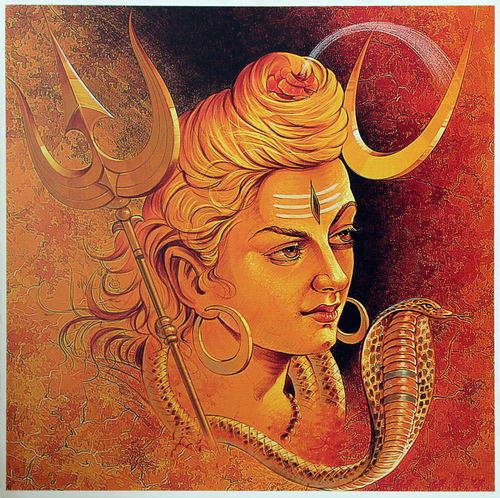 Lord Shiva Poster Painting