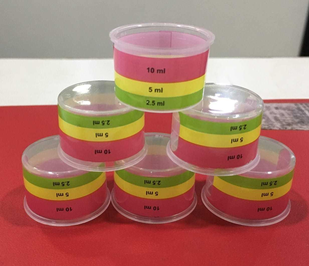 Colorful Three Line Measuring Cups