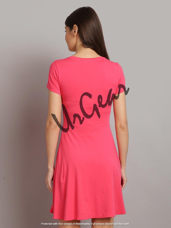 Urgear Women Drop Waist Pink Dress