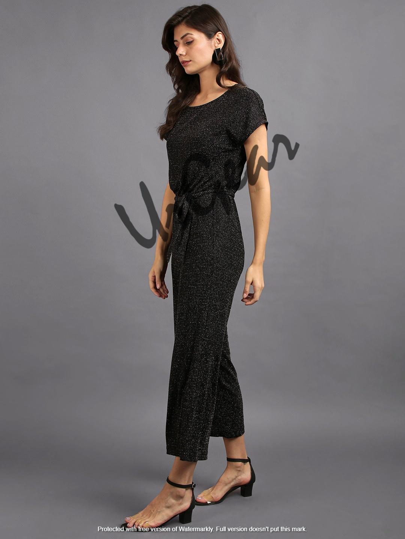 Women Solid Black Jumpsuit