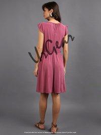 Women Pink Solid Dress
