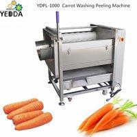 Ydpl-450c Brush Roller Carrot Potato Washing Peeling Machine Sweet Patoto Washer And Peeler