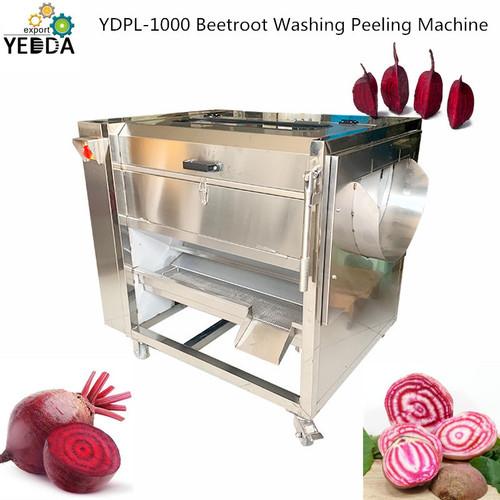 Ydpl-1500c Factory Price Beetroot Washing Cleaning Machine, Turmeric Brush Washer, Asparagus Polish Peeling Machine