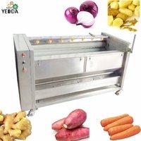 Ydpl-3000c Factory Outlet Potato Carrot Taro Cassava Ginger Yam Root Washing And Peeling Machine Brush Washer Peeler Machine
