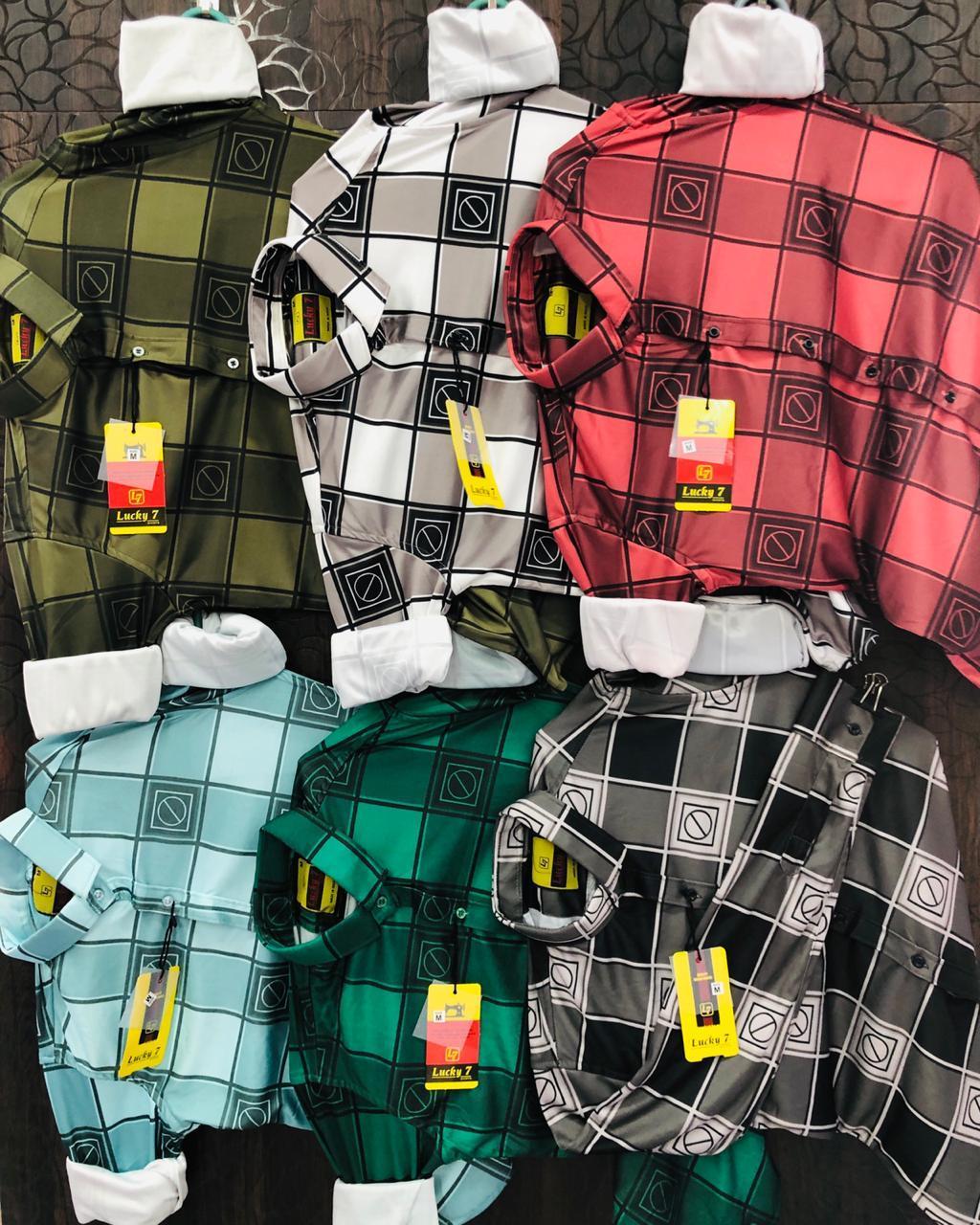 Mens Lycra Check Shirts