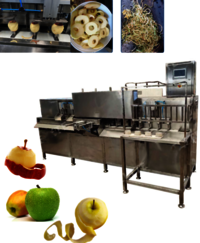 Facs-3600 Factory Price Fully Automatic High Speed Apple Pear Fruit Peeling, Core Removing And Splitting Machine