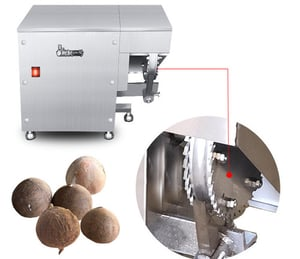 Ccnh-10 Automatic Coconut Husk Crushing Remover Coconut Shell Removing Machine Coconut Husk Crushing Machine