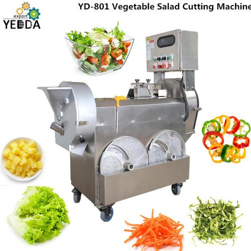 Yd-801 Double Inlet Vegetable Cutting Machine Cutting Size Adjustable Spring Onion Leeks Cucumber Pumpkin Bell Pepper Okra Slicing Machine Fruit Chopper