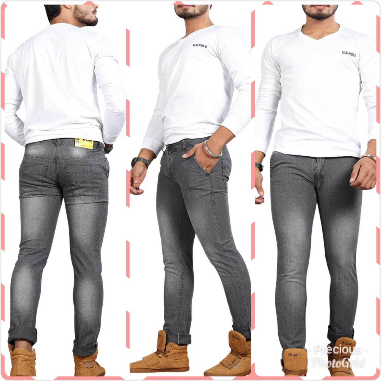 Mens Washed Jeans
