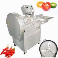 Hcd-140 Factory Price Short Carrot Slicing Machine Wholesale Pepper Chili Chopping Machine Onion Cutter Machine