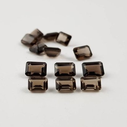 3X5Mm Smoky Quartz Faceted Octagon Loose Gemstones Certifications: As Per Customer'S Requirement