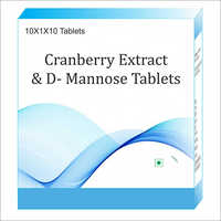 Cranberry Extract and D-Mannose Tablet