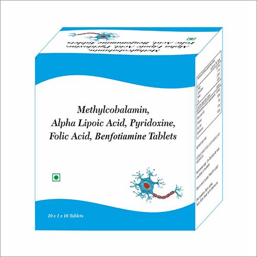 Methylcobalamin - Alpha Lipoic Acid - Pyridoxine - Folic Acid - Benfotiamine Tablet