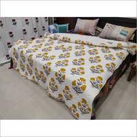 Hand Block Printed Kantha Jaipuri Quilt