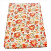 Hand Block Print Fabric With Cotton Malmal Print