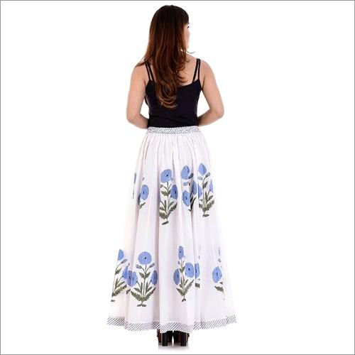 Ladies Block Printed Long Skirt