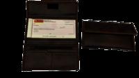 Velcro Cheque Book Folder
