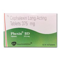 PHEXIN BD 375 MG TABLET (Cephalexin LONG ACTING Tablets