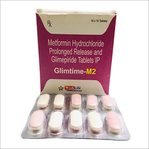 Glimtime-M2 Metformin Hydrochloride Prolonged Release And Glimepiride Tablets IP