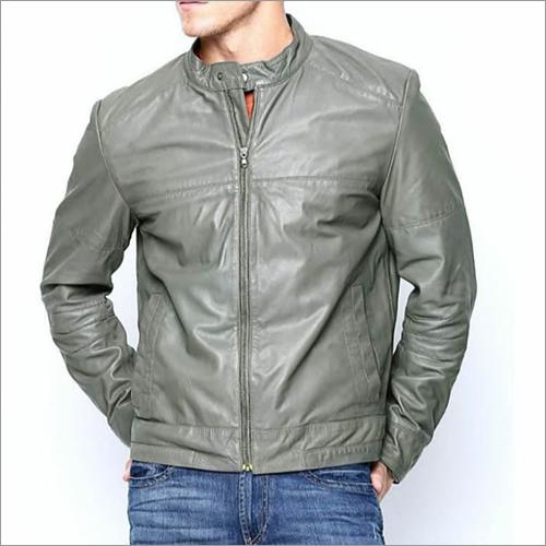 Mens Zipper Leather Jacket