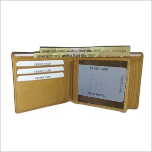 Mens Yellow Leather Wallet