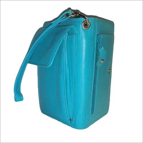 Ladies Sky Blue Leather Purse