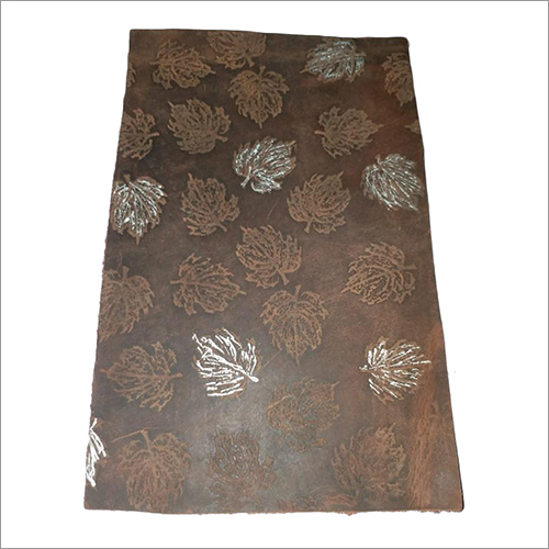 Leaf Printed Leather Sheet