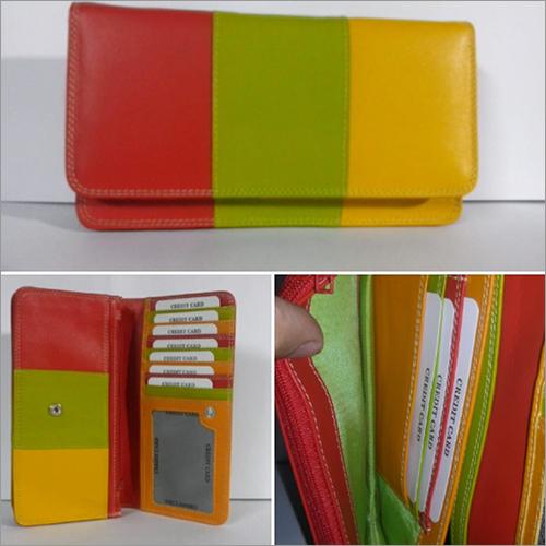 Multicolor Leather Clutch