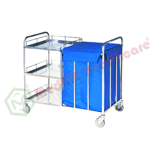 Trolley For Dirty Linen And Waste, S.s.