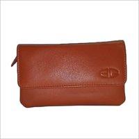 Ladies Orange Leather Clutch